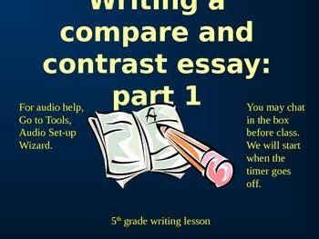 Comparison contrast essay ppt